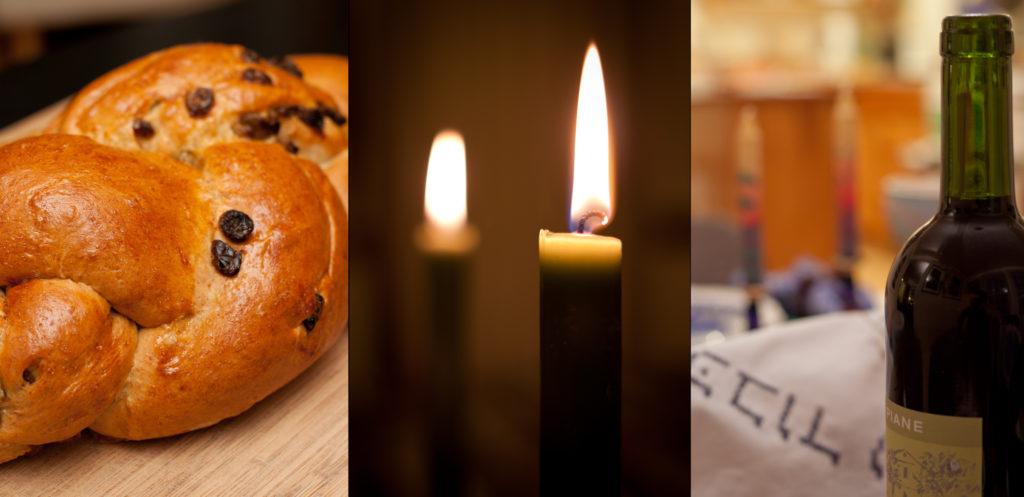 I 3 elementi di un buon shabbat, il mio preferito è ovviamente il challah (ovvero il pane della festa!)